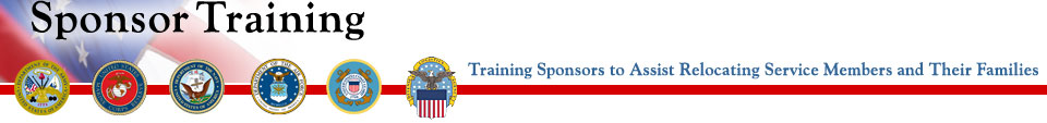 eSponsorship Application Training, Training Sponsors to Assist Relocating Service Members and Their Families